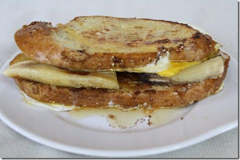 Grilled Banana French Toast Sandwich