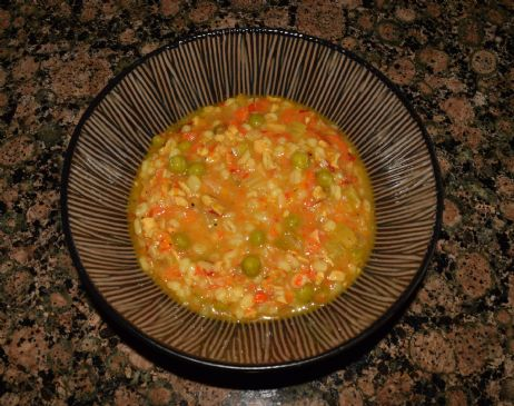 Roasted Pepper & Chicken Barley Soup