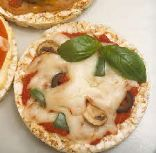 Whole Wheat Rice Cake Pizzas