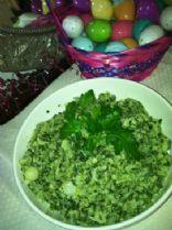 Cauliflower and Spinach Mash