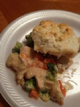 Alfredo Chicken 'n' Biscuits