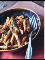Penne with Sun Dried Tomatoes and Vinegar Peppers