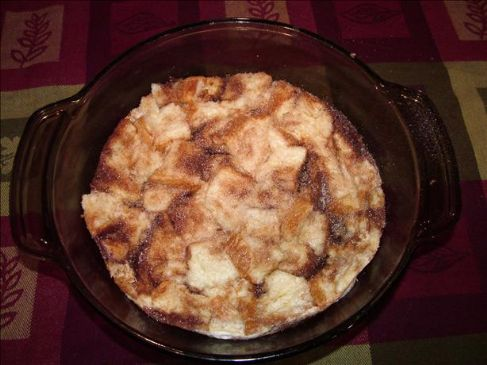 Bread Pudding in the Microwave