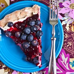 blueberry lemon breakfast pizza