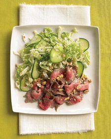 Asian Steak Salad with Cucumber and Napa Cabbage