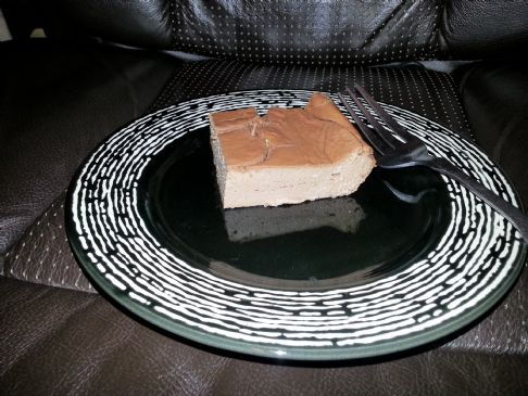 Sugar free chocolate cheesecake like dessert