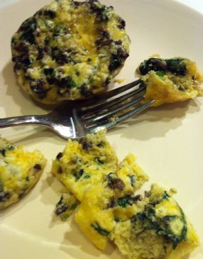 BBBloom's Mushroom Spinach Mini Omelettes