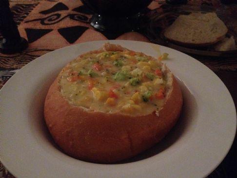 Broccoli-Corn Cheddar Cheese Soup