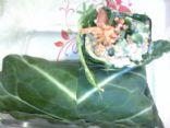 Raw Swiss Chard Veggie Wraps With Creamy Pecan Spread.