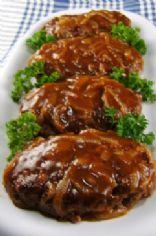 Easy Beef Dinners-Hamburgers & Onion Gravy (138 cal)