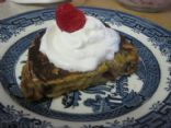 Stuffed Red White & Blue French Toast