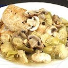 Romantic Chicken with Artichokes and Mushrooms