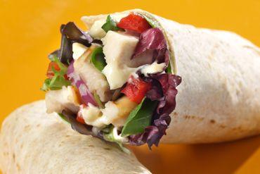 Chicken & Veggie Wraps