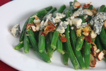 Green Beans Almondine with Blue Cheese