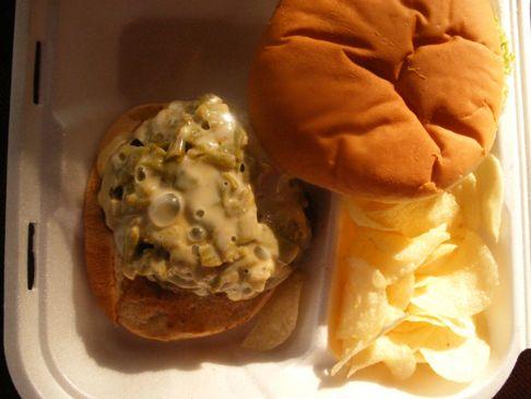 Green Chili Cheese Burgers