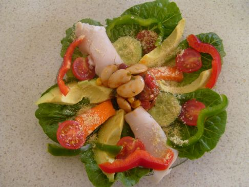 Advocado, Turkey, and Bean medley  Salad