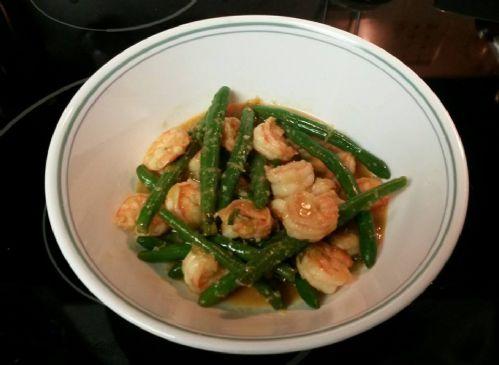 Gingery Shrimp & Green Bean Stir-Fry