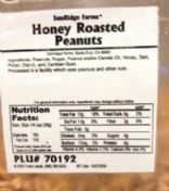 Honey Roasted Peanut Butter (fresh grind - Central Market)