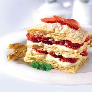 Mini Strawberry Napoleons Recipe Sparkrecipes