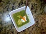 Spinach Pota Brata with Chicken Meatballs (Irish Flag Soup)