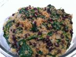 Quinoa, Spinach & Black Bean Casserole