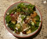 Grape, Melon & Spinch Salad w. Feta & Flax