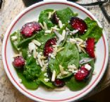Plum & Feta Spinach Salad
