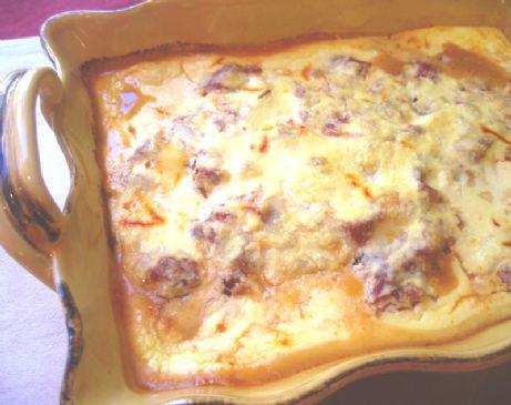 Eggplant Gratin With Saffron Cream