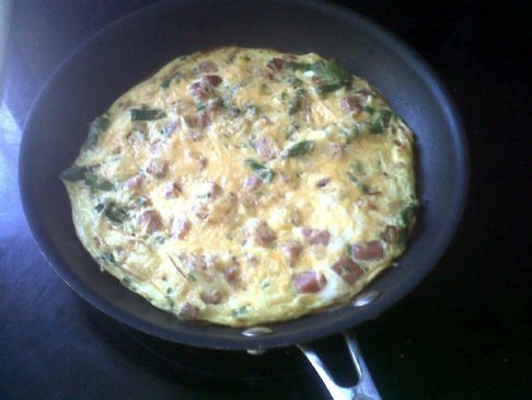 Ham and Asparagus Frittata