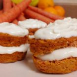 Rice Flour Banana Carrot Cupcakes
