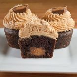 gourmet Reese's peanut butter cup cupcakes