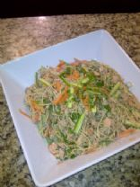 Low Fat Asian Salmon Pasta Salad