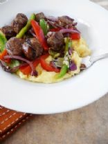 Mascarpone Polenta with Sausage and Peppers