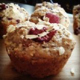 Berry and lavender oat muffins