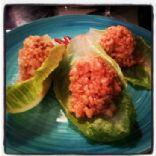 Shanghai Chicken Lettuce Wraps with Garlic & Ginger Brown Rice
