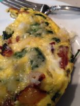 Spinach and Bacon Fritata