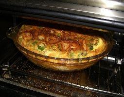 Broccoli/Ham/Mushroom Crustless Quiche