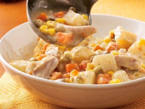 Slow cooker Chicken Alfredo Stew