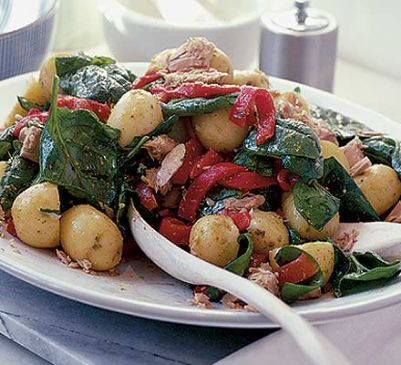 Potato, Tuna & Spinach Salad