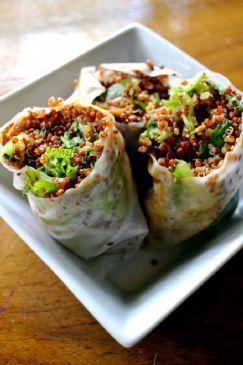 Sesame Quinoa Spring Rolls