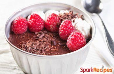 Creamy Chocolate-Raspberry Mousse
