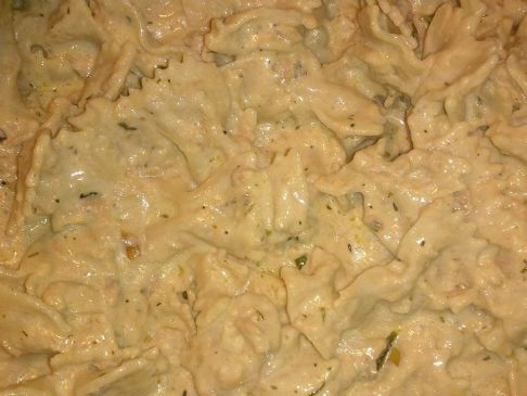 Creamy Tuna Garlic Herb Bowtie Pasta