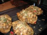 Chicken Stuffed Eggplant
