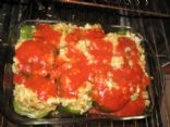 Stuffed Green Peppers with Turkey & Quinoa