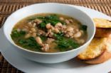 Spinach White Bean Beef Soup