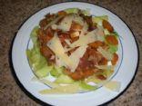 Zucchini Pasta with Tomato and Mushroom Sauce