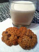 Healthy Choc Chip Coconut Cookies