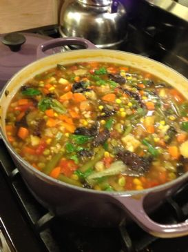 Hearty French Vegetable Barley Soup (Vegan)