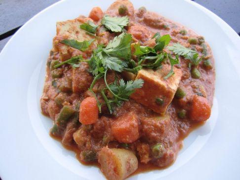 Navratan Korma with Tofu