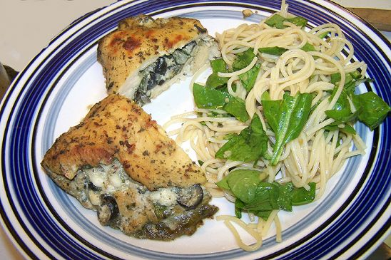 Stuffed Pesto Marinaded Chicken Breast